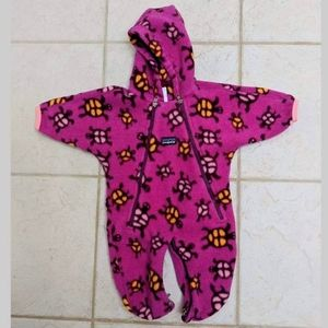 🌳Patagonia synchilla fleece baby bunting onsie